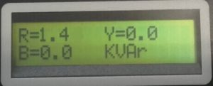Profile LCD showing kW on 1 Phase