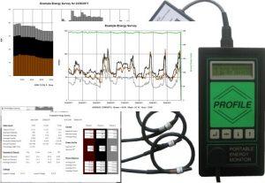 Profile portable energy monitor & charts