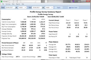 ProPower 3 summary report screen shot