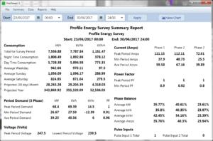 ProPower 3 summary report screen shot