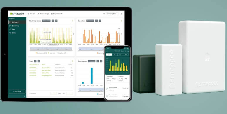 Smappee Infinity components, dashboard & app