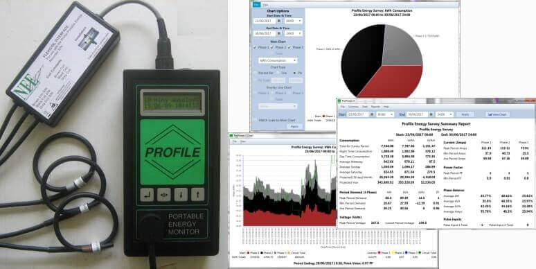 Profile Portable 3 Phase Energy Monitor