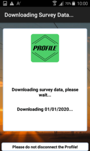 Profile energy monitor app downloading survey data