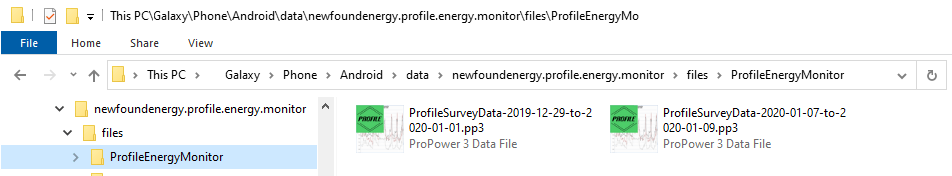 Profile energy monitor app ver 2 - file save