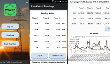 3 phase energy monitor app