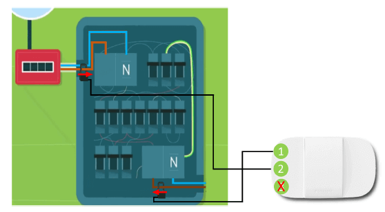 Smappee Home Energy single phase installation diagram
