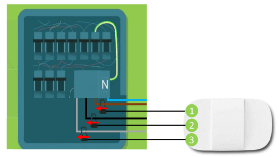Smappee Home Energy 3 phase installation diagram