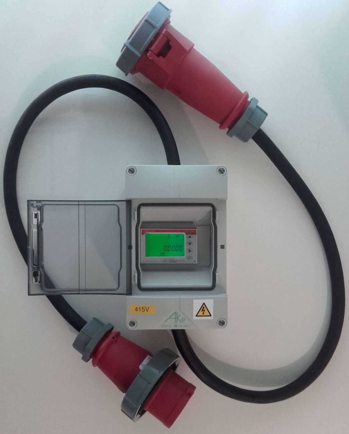 inline 3 phase electricity meter